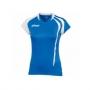 Футболка волейбольная Asics T-shirt fanny lady (женская) голубой - белый