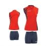 Форма волейбольная Asics Set fly lady (женская) красный - темно-синий