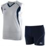 Форма волейбольная Mizuno Club AW12 (женская) белый - темно-синий