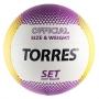 Мяч волейбольный Torres Set фиолетовый - желтый