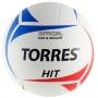 Мяч волейбольный Torres Hit белый - синий