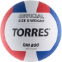 Мяч волейбольный Torres BM800 белый - красный