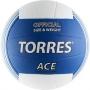 Мяч волейбольный Torres Ace синий - белый