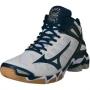 Кроссовки волейбольные Mizuno Wave Lightning RX3 mid SS14 белый - темно-синий