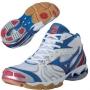 Кроссовки волейбольные Mizuno Wave Bolt 2 mid AW13 белый - синий