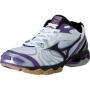 Кроссовки волейбольные Mizuno Wave Bolt 2 AW13 (женские) белый - фиолетовый
