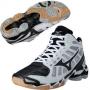 Кроссовки волейбольные Mizuno Wave Lightning RX2 mid AW13 белый - черный